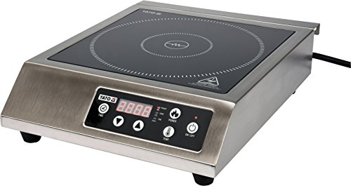 YATO Profi Gastro Digitale Induktionskochplatte 3500 Watt Edelstahl mit digitaler Temperaturwahl Induktionskocher Induktionskochfeld Induktion Kocher Kochplatte