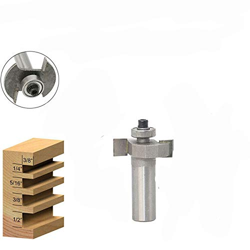 BE-TOOL - Broca fresadora de ranura en T para herramientas de carpintería para mejorar el hogar y bricolaje