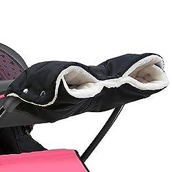 Kinderwagen Handwärmer,DIAOPROTECT Kinderwagen Handschuhe Handmuff mit Fleece Innenseite,Kinderwagenmuff Atmungsaktiv Wasserfest Winddicht, Universalgröße für Kinderwagen Buggy,Radanhänger(Schwarz)