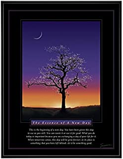 Successories .25 in. Black Aluminum Frame - Essence of A New Day Mini Motivational Poster