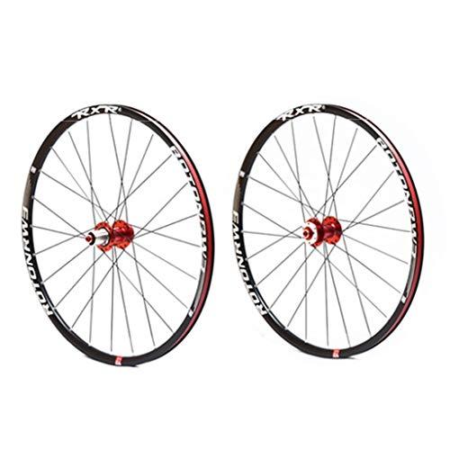 LHHL - Fahrradfelgen in Red Hubs, Größe 27.5in