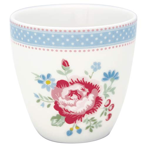 GreenGate - Espressotasse, Kaffeetasse, Mini Latte Cup - Evie - Porzellan - White - 125 ml