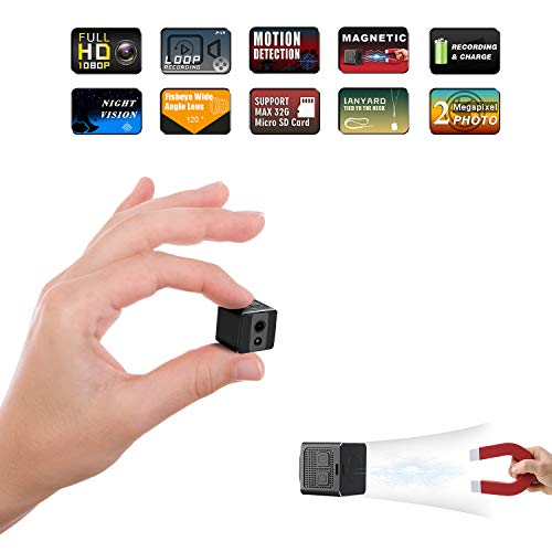[Upgrade Version] Mini Spy Camera Cop Spy Cam 1080P Spy Camera Wireless Hidden Support 128 gb Card...