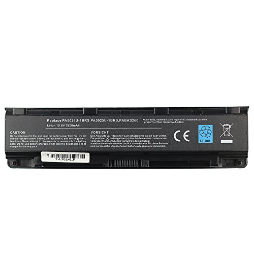 BTMKS Notebook Laptop battery for Toshiba PA5024U-1BRS PA5025U-1BRS PABAS260 PA5026U-1BRS Satellite C850 C850D C855 C870 L850 L855 L870 replacement battery Li-ion 9cell 10.8V 7800mAh