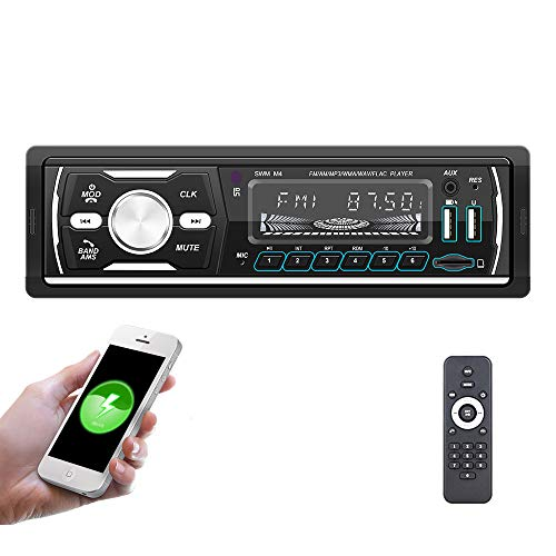 DAB + Autoradio mit Bluetooth 1 Din Digital Media Player Freisprecheinrichtung FM / AM / RDS Radio Auto MP3-Player 4x50W Zwei USB / AUX-Eingang / SD / TF-Karte + Fernbedienung