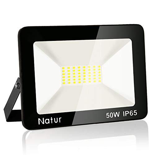 Faretto LED da Esterno 50W, Fari di sicurezza ,Lampada Luce Potente Luce Bianca (6000K) Faro Impermeabile IP65 per Giardino Cortile , [Classe di efficienza energetica A++]