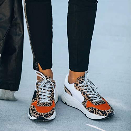 Oceansee Las Mujeres Transpirable De Malla Zapatilla De Deporte De Encaje Hasta Vulcanizado Señoras Cómodo Casual Plano Mujer Zapatos De Tenis Más Tamaño Beigh 37