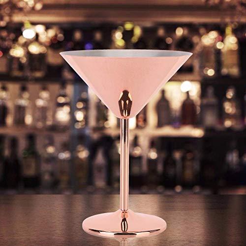 Copa de vino tinto, copa de vino inoxidable anticorrosión de aspecto moderno, copa cáliz, copa para tostar champán, para picnics, bebidas frías, barbacoas, bares
