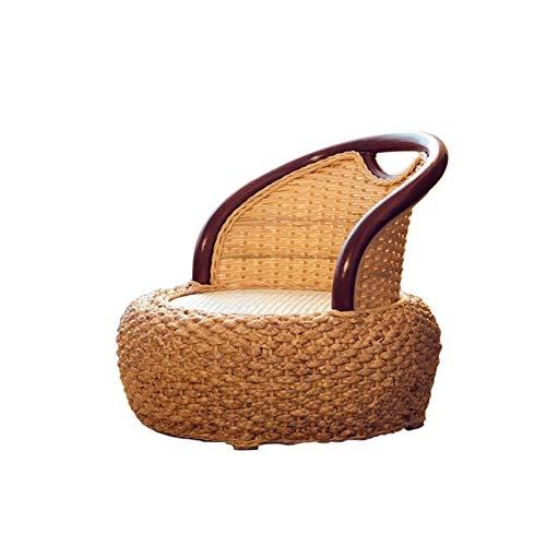 YaGFeng Gewebtes Graskissen Rattan Zaisu Legless Chair Handgemachte Rattan-Gewebe-Boden sitzender Tatami-Stuhl für Bucht-Fenster-Bett Faules Sofa-Meditation Geeignet für Wohnzimmer Home Decoration