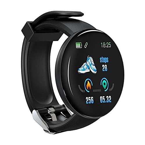 Bestshop Pulsera inteligente USB cargable reloj inteligente para hombres y mujeres, pulsera de fitness, contador de calorías, reloj completo de deportes al aire libre Smartwatch para teléfonos Android
