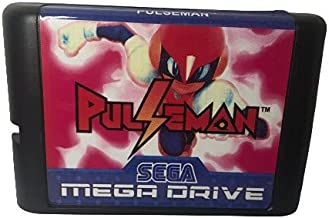 Royal Retro Pulseman pour cartouche de jeu 16 bits Mega Drive Sega Genesis pour PAL et NTSC (noir)