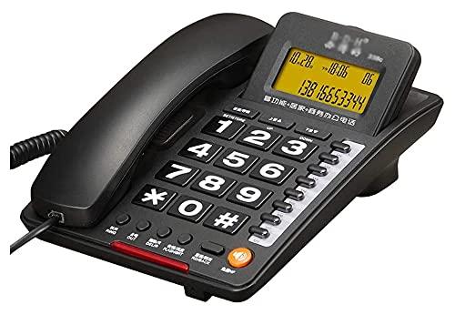 LANDLINE Corded TELÉFONO DE TELÉFONO DE TELÉFONO TELÉNTICO TELÉFONO BOTÓN LANZAL LANDLINE, Negocio de Oficina se Puede conectar a la extensión, teléfono Giratorio Negro, Estudio, Hotel