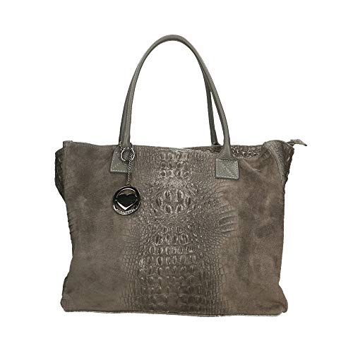 Chicca Borse Bag Borsa a Mano in Pelle Made in Italy 53x30x16 cm