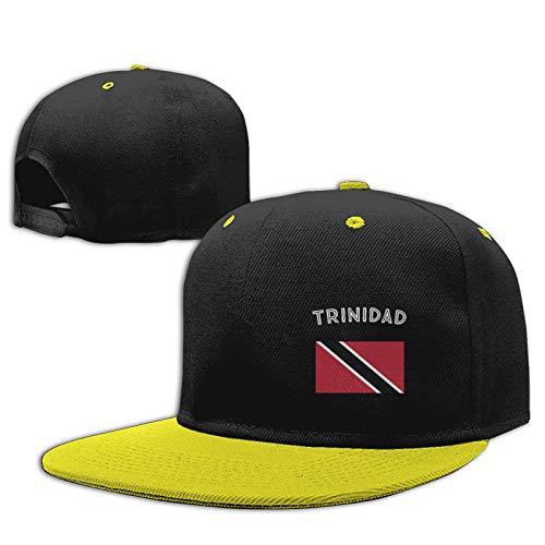 Labels4school Gorra de béisbol con la bandera de Trinidad ajustable para niños y niñas de 6 a 12 años, color amarillo