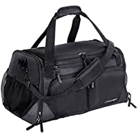 Yixinunique Travel Duffel Bag with Shoes Compartment & Wet Pocket & Water Resistance Pouch