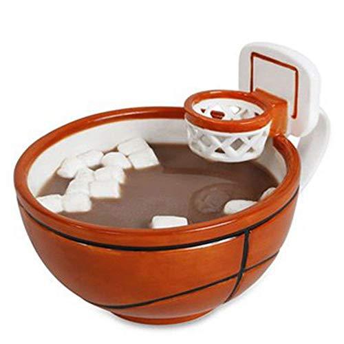 FUXIAOCHEN 430 Ml Carino Creativo Tazza di Latte caffè Basket Calcio Modello Colazione Fiocchi D'Avena Gelato tè Tazza di caffè con Impugnatura A Mano, A