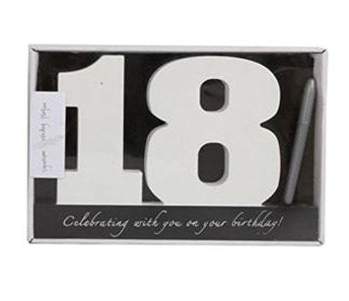18. Geburtstag Signatur Zahlen