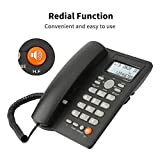 Desktop Corded Telephone with Caller ID Display, DTMF/FSK Dual System, Wired...