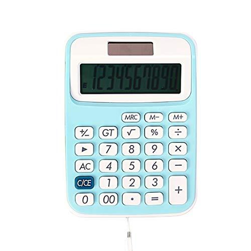 Wetenschappelijke rekenmachine, mini-kleurenrekenmachine, voor studenten, draagbare dual-zonne-energie, kleine computer met kabel, 10-cijferige displayrekenmachine