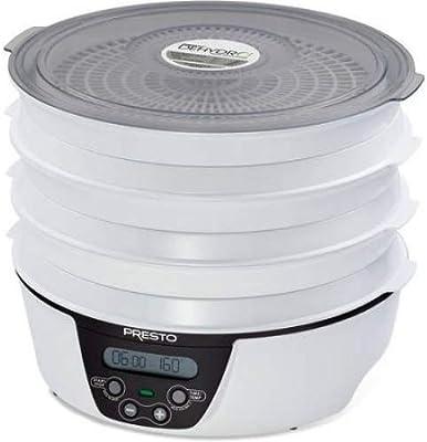 Presto 06303 Dehydro Electric Food Dehydrator, 6 trays, Black and White