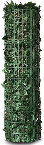 KANULAN Cerca de Jardín Seto Artificial Hiedra Placa de protección UV Flexible instantánea de privacidad Que Cubre el jardín y Vallas Decorativas (Color : Green, Size : 1x5m)
