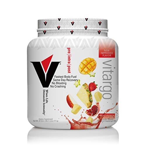 Vitargo Carbohydrate Powder | Feed Muscle Glycogen 2X Faster | 1 LB Fruit Punch Pre Workout & Post Workout | Carb Supplement for Recovery, Endurance, Gain Muscle Mass
