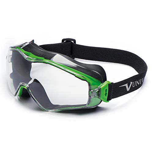 Univet 6X3.00.00.00 Vollsichtbrille 6X3 mit klarem Glas in dunkelgrau/grün