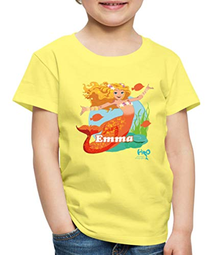 H2O Abenteuer Meerjungfrau Emma Kinder Premium T-Shirt, 122-128, Gelb