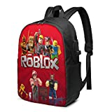 Hengtaichang RO-BL-OX 17 Inch Laptop Computer Bag,Men Women Travel Backpack with USB Port for School and Outdoor