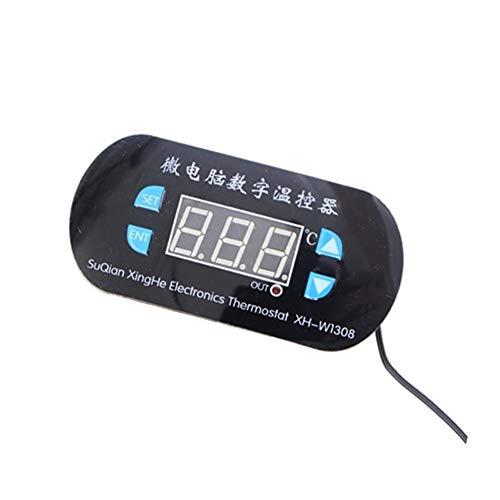Controlador de temperatura digital XH-W1308 AC 220V Ajustable Digital Cool Heat Sensor Rojo Pantalla Interruptor del termostato del controlador de temperatura Termostato de una sola etapa de 24 voltio