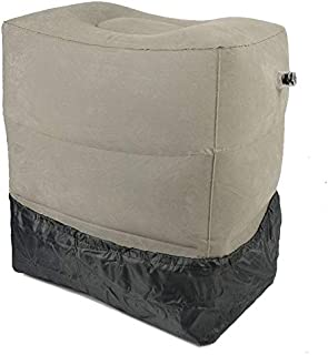 Inflatable Footrest Travel Pillow 3 Layer + Dust Cover + Carry Bag