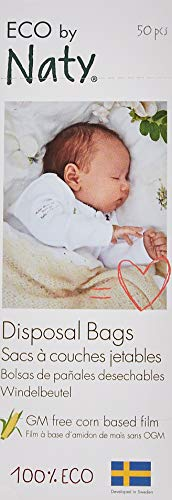 Eco by Naty Babycare Eco Disposal Nappy Bags - 3 x Packs of 50 (Total 150 Disposal Bags)
