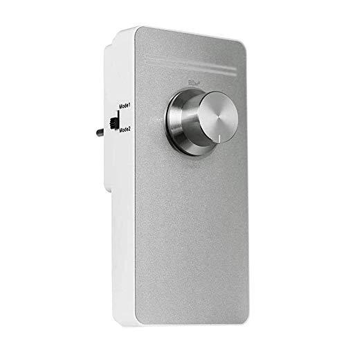 JJHOME Purificador de Aire, Limpiador casero de Aire ionizador de Aire Elimina el Dormitorio Alérgenos aliviar el asma de heno Fiebre del Desodorante Socket Typers,Plata