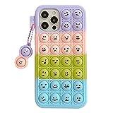 ESSTORE Funda de juguete para OPPO A77/OPPO R9s (5.5''), Push Bubble Soft Silicone Stress Relief Sensory Cover Protectora con soporte, Color Emoji