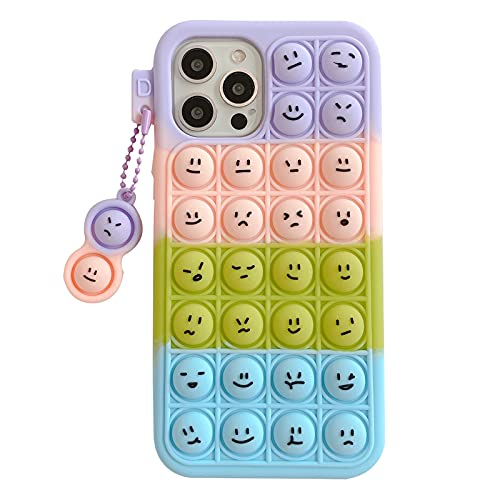 ESSTORE Toy Case for Vivo V9/V9 Youth/Z1/Z1i/X21i/Z3x, Push Bubble Soft Silicone Stress Relief Sensory Protective Cover with Stand, Color Emoji