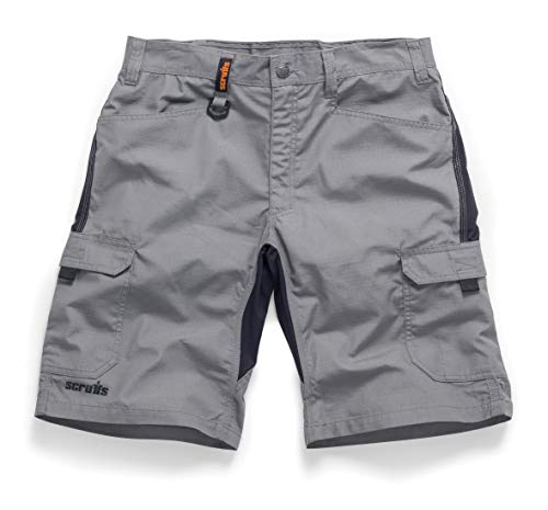 New SCRUFFS LINE **** Trade Flex Shorts Work WEAR Graphite Grey Size 30' - 40' Waist (34' T54645)