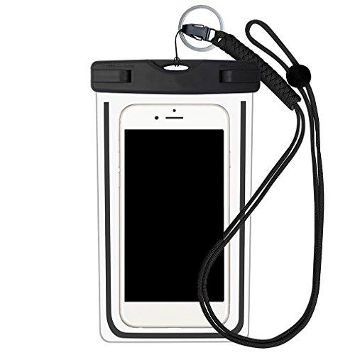 LEVEL GREAT Sac d'étanchéité Téléphone étanche avec Sangle Piscine Protection Sac de téléphone Sac avec Sangle à Sec Pouch Housse de Protection, Noir