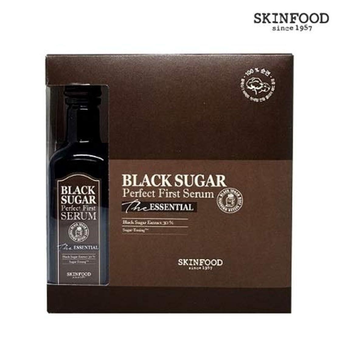 ひねくれたペナルティ権限Skin foodスキンフードブラックシュガーパーフェクト最初血清 (専用化粧綿60枚を含む)