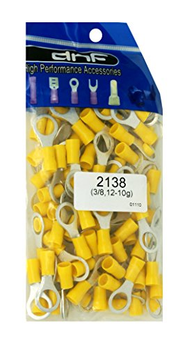 DNF 200 Pack Copper 12-10 Gauge Yellow Ring Terminals Electrical Wire Connectors 3/8'