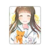 Fruit Basket Tohru Mouse Pad with Stitched Edge Non-Slip Rubber Base, Washable Comfortable Mouse Pads