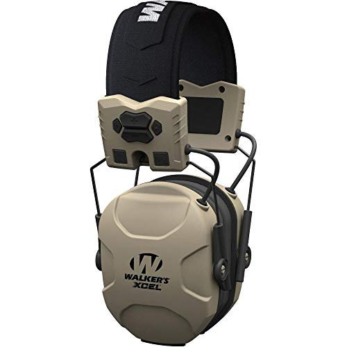 Walker's Game Ear XCEL 100 Digital Electronic Muff W/Voice Clarity, Advanced Circuit, 4 Listening Modes, Beige (GWP-XSEM)