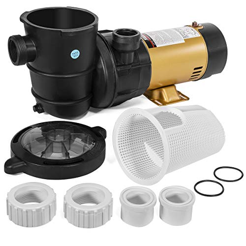 XtremepowerUS 1.5HP Variable 2-Speed Swimming Pool Pump High Flow Above-Ground Swimming Pump Strainer w/Slip on Fitting