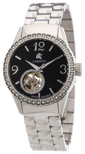 Carucci Watches Damen-Armbanduhr Analog Automatik Edelstahl CA2197SL-BK