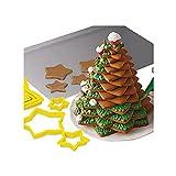 BETUGIFT 6PCS Ausstecher Stern Set Ausstechformen für Terassenkekse Plätzchen Tortendekorationen Ausstechformen für Weihnachten, Ausstecher für Plätzchen & Terassenkekse (Yellow, 6PCS)