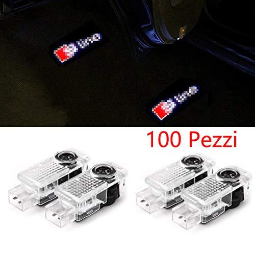 100 PCS Cool Design Autotür Logo Projektion Licht Türbeleuchtung Willkommen Licht (4PC)