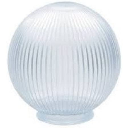 """White Milk Glass Round 6/"""" Globe Light Lamp Shade Cover Replace 3 1//8 Fitter"""