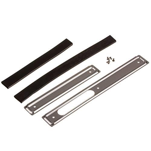 Scheuerleiste Set - rechts / links - Alu - mit Keder und Nieten - Schwalbe KR51