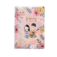 かわいい手描きの花のイラストスケジュール年間日記毎週毎月毎日プランナーオーガナイザー紙ノートA5アジェンダ ノート 