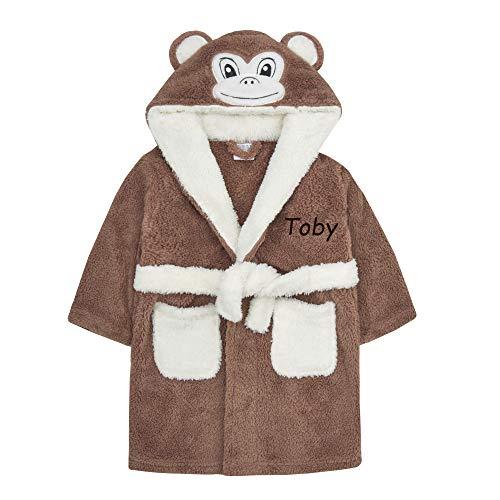 Baby-Bademantel, Motiv: Maus / Panda / Ente, mit Kapuze, Größe 34-40 Gr. 92, Personalisierter Affe
