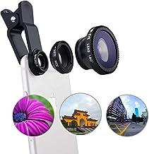 BOLTE Universal Mobile Phone Camera Lens Kit 3 in 1 Set 180 Fisheye Lens Mobile Phone Clip Lenses for All Smartphone Lens Mobile Phone External Lens Photography Accessories Camera Lens Pack 1